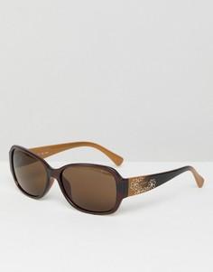 Коричневые квадратные солнцезащитные очки Esprit - Коричневый