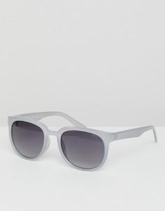Серые круглые солнцезащитные очки Esprit - Серый