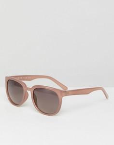 Розовые круглые солнцезащитные очки Esprit - Розовый