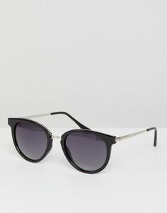 Черные круглые солнцезащитные очки Esprit - Черный