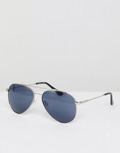 Серебристые солнцезащитные очки‑авиаторы Esprit - Серебряный