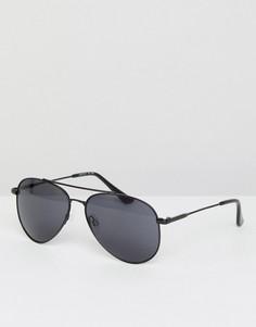 Черные солнцезащитные очки-авиаторы Esprit - Черный