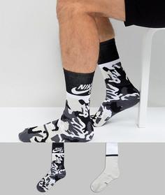 2 пары черных носков Nike SB SX6848-903 - Черный