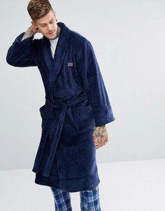 Флисовый халат Ben Sherman - Темно-синий