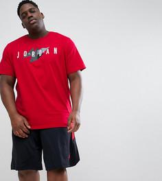 Красная футболка с логотипом в стиле ретро Nike Jordan PLUS 908007-687 - Красный