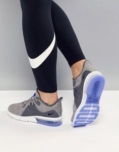 Серо-синие кроссовки Nike Running Air Max Sequent - Мульти