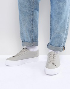 Серые сетчатые кеды на шнуровке с массивной подошвой ASOS - Серый