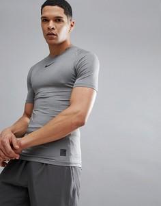 Серая компрессионная футболка Nike Training Pro 838091-091 - Серый