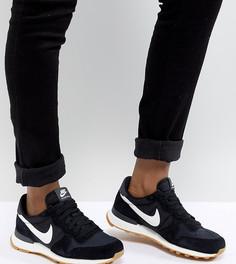 Черно-белые нейлоновые кроссовки Nike Internationalist - Черный