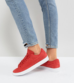 Красные низкие замшевые кроссовки Nike Blazer - Красный