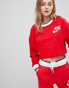 Красный двусторонний свитшот Nike Archive - Красный