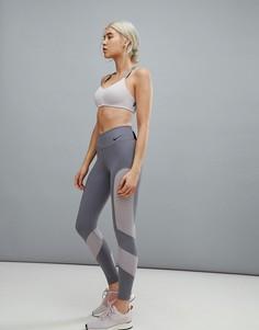 Серые леггинсы Nike Training - Серый