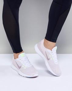 Бело-розовые кроссовки Nike Training Flex 7 - Мульти