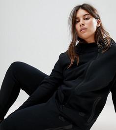 Черная флисовая куртка на молнии Nike Plus Tech - Черный