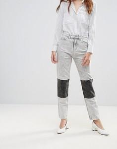 Джинсы в винтажном стиле с эффектом кислотной стирки Waven Elsa - Серый