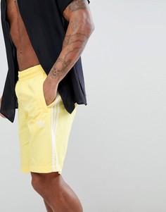 Желтые шорты для плавания adidas Originals adicolor CW1307 - Желтый