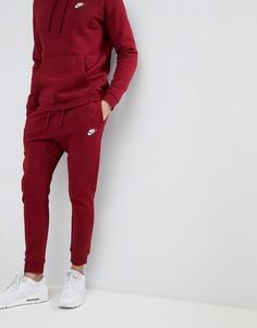 Красные флисовые джоггеры Nike Club 804408-677 - Красный