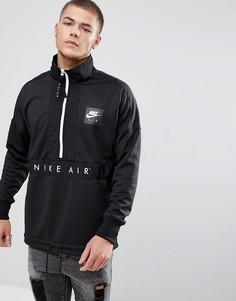 Черная куртка с короткой молнией Nike Air 918324-010 - Черный