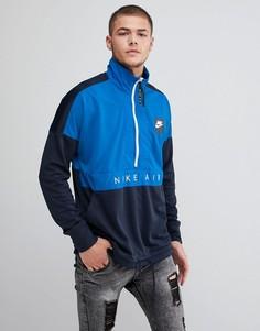 Темно-синяя куртка с молнией Nike Air 918324-465 - Темно-синий