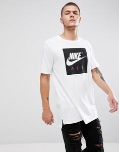 Белая футболка с большим логотипом Nike Air 892313-100 - Белый