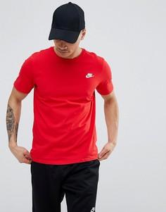 Красная футболка с логотипом Nike Futura 827021-659 - Красный