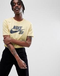 Желтая футболка с логотипом Nike SB 821946-721 - Желтый