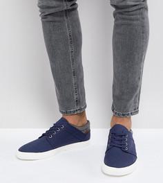Темно-синие кеды на шнуровке для широкой стопы из искусственной замши ASOS - Темно-синий