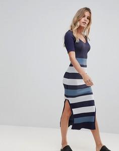 Полосатое платье в рубчик Urban Bliss Belle - Темно-синий