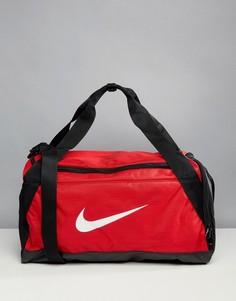 Красная спортивная сумка с логотипом-галочкой Nike - Красный