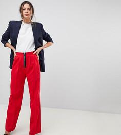 Широкие брюки на молнии ASOS TALL - Красный