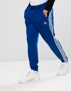 Синие джоггеры с 3 полосками adidas Originals adicolor CW2430 - Синий