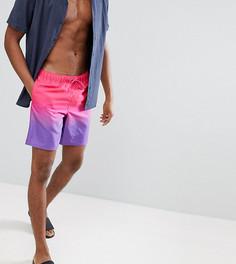 Фиолетово-розовые шорты для плавания средней длины с эффектом деграде ASOS TALL - Фиолетовый