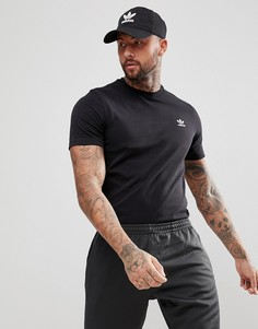 Черная футболка с вышитым логотипом adidas Originals adicolor CW0711 - Черный