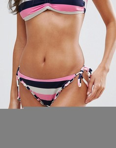 Плавки-бикини в полоску с завязками по бокам South Beach - Мульти