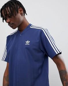 Темно-синяя футболка в стиле ретро adidas Originals Nova Football CE4803 - Темно-синий