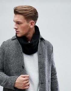 Черный шарф-снуд с узором косичка Esprit - Черный
