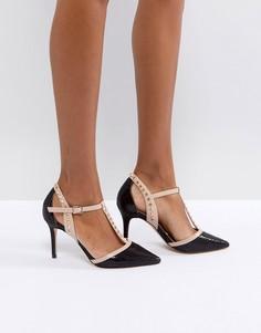 Туфли на высоком каблуке с заостренным носком и заклепками Carvela - Черный