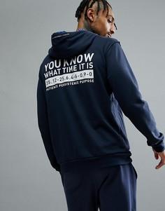Темно-синий худи adidas Basketball Dame CE7355 - Темно-синий