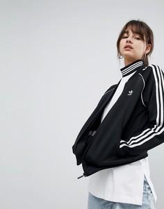Черная спортивная куртка с тремя полосками adidas Originals adicolor - Черный