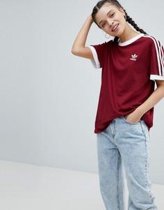 Бордовая футболка adidas Originals adicolor - Красный