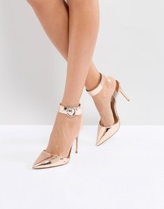 Туфли на каблуке с заостренным носком Steve Madden - Золотой