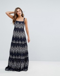 Платье макси с принтом Pepe Jeans - Темно-синий
