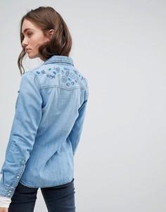 Облегающая джинсовая рубашка Pepe Jeans - Синий