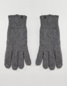Меланжевые перчатки овсяного цвета Esprit - Серый