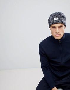 Мелажевая шапка-бини с отворотом из пряжи с добавлением шерсти Esprit - Синий