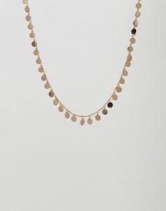 Ожерелье с дисками Nylon - Золотой
