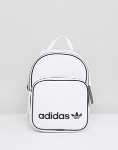 Белый маленький рюкзак из искусственной кожи adidas Originals - Белый 616a8379820