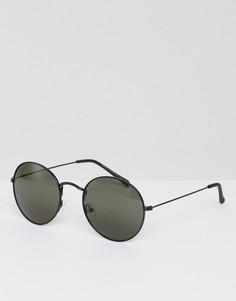Серебристые круглые солнцезащитные очки Quay Australia Mod Star - Серебряный