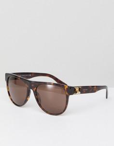 Круглые черепаховые солнцезащитные очки Versace 0VE4346 - 57 мм - Коричневый