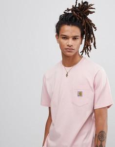 Розовая футболка с карманом Carhartt WIP - Розовый